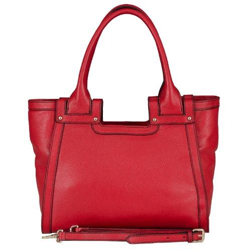 BELUCIA CICCIANO Bag, Sac d'épaule, véritable cuir de veau de grain, Couleur - Rouge, Retours gratuits de France