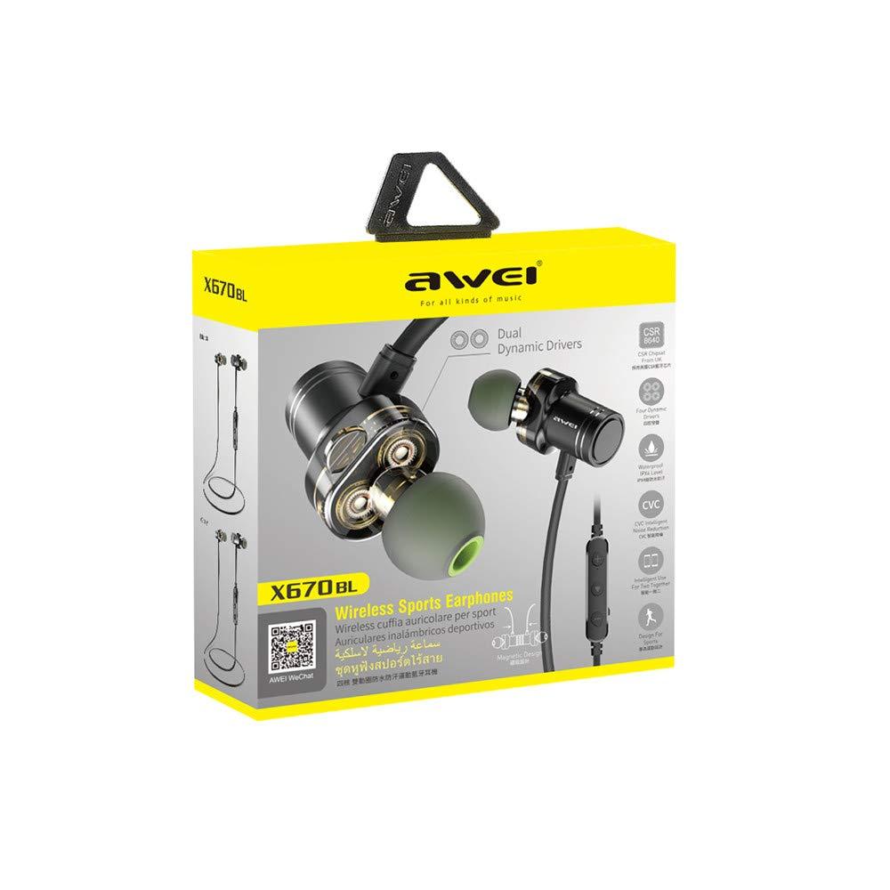 Amazon.com: LXJTT Wireless Headphones Earbuds Metal Magnetic Neckband Bluetooth Headsets Noise Cancelling Headphones HiFi Stereo Earphones: Sports & ...