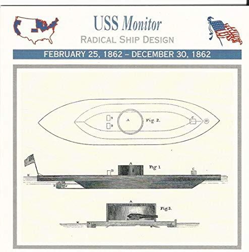 1995 Atlas, Civil War Cards, 06.08 USS Monitor, Ironclad Ship
