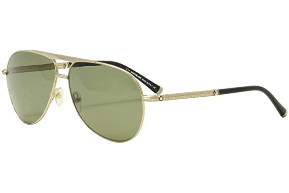 c0414b4a1b Image Unavailable. Image not available for. Color  MONTBLANC MB517S 28R -  shiny rose gold   green polarized Metal