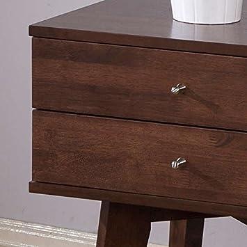 Mid-Century, Modern Jones Wenge 2-drawer Nightstand