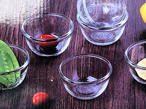 Saanveria Small Glass Kattori/Glass Bowl Set/Serving Bowl/Snack Bowls 170 ml (Pack of 6) Price & Reviews