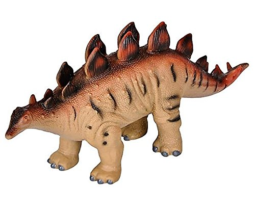 Educational Dinosaur Figures - 12'' Soft Squeezable Animal Den Stegosaurus - Realistic Jurassic Period Dino Toy 12'' Dinosaur Toys - Animal Themed Party Accessory - Carnival Prize by Hands On Learning