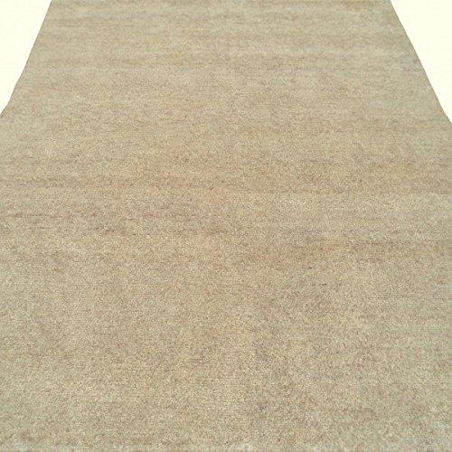 Fußmatte Orient Gabbeh Varanasi Griff vollständig aus reiner Wolle, 198 x 200 cm mit Echtheitszertifikat