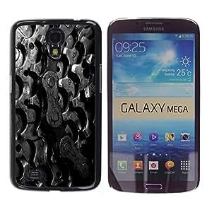 YiPhone /// Prima de resorte delgada de la cubierta del caso de Shell Armor - Sprockets Bike Chain - Samsung Galaxy Mega 6.3 I9200 SGH-i527