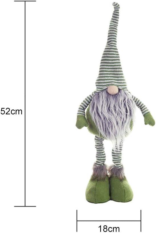 Large Gris gonk blanc moelleux de grosses jambes Chapeau Gnome Noël Décoration 90 Cm