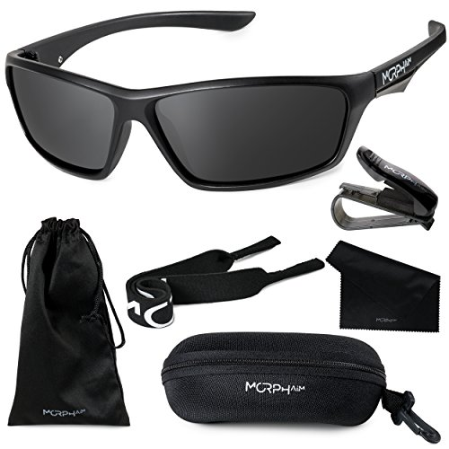 Morph Aim Polarized Sport Sunglasses for Men and Women - Sports: Running Cycling Fishing Golf Baseball Driving by Morph Aim