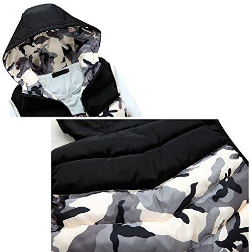 Vests Zipper Hooded Waistcoat Mens Zhhlaixing Camouflage Jackets Sleeveless Gary Classico AqwvfntI