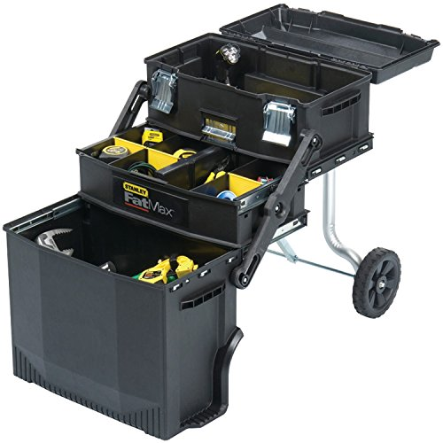 Stanley 020800R FatMax 4-in1 Mobile Work Station for Tools and Parts (Mobile Bin Cart)