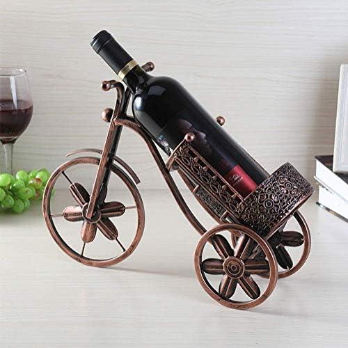 Wijnrek op aanrecht, Desktop Metal Tricycle Wine Rack, Geschikt voor Bar, Wijnkelder, Kelder, Kast