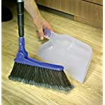 """Camco Mfg 43623 Adjustable RV Broom & Dustpan 14 Adjusts to different angles Dustpan clips onto broom handle for storage 52"""" long broom telescopes down to just 24"""" for compact storage"""