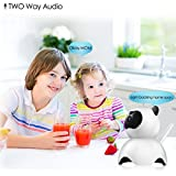 Baby Monitor Panda Camera,Joney 1080P Wireless camera for Home security, Built-in Microphone with iOS/Android App,Pan/Tilt with 2-Way Audio (1080P)