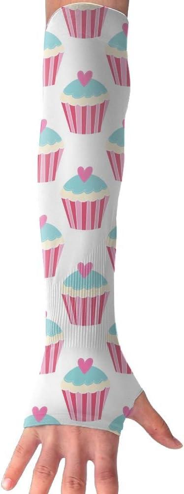 MASDUIH Color Ice Cream Gloves Anti-uv Sun Protection Long Fingerless Arm Cooling Sleeve for Men and Women