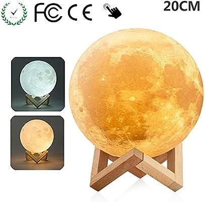 3D Moon Lamp USB LED Night Light Moonlight Magical Touch Sensor Home Desk Decor