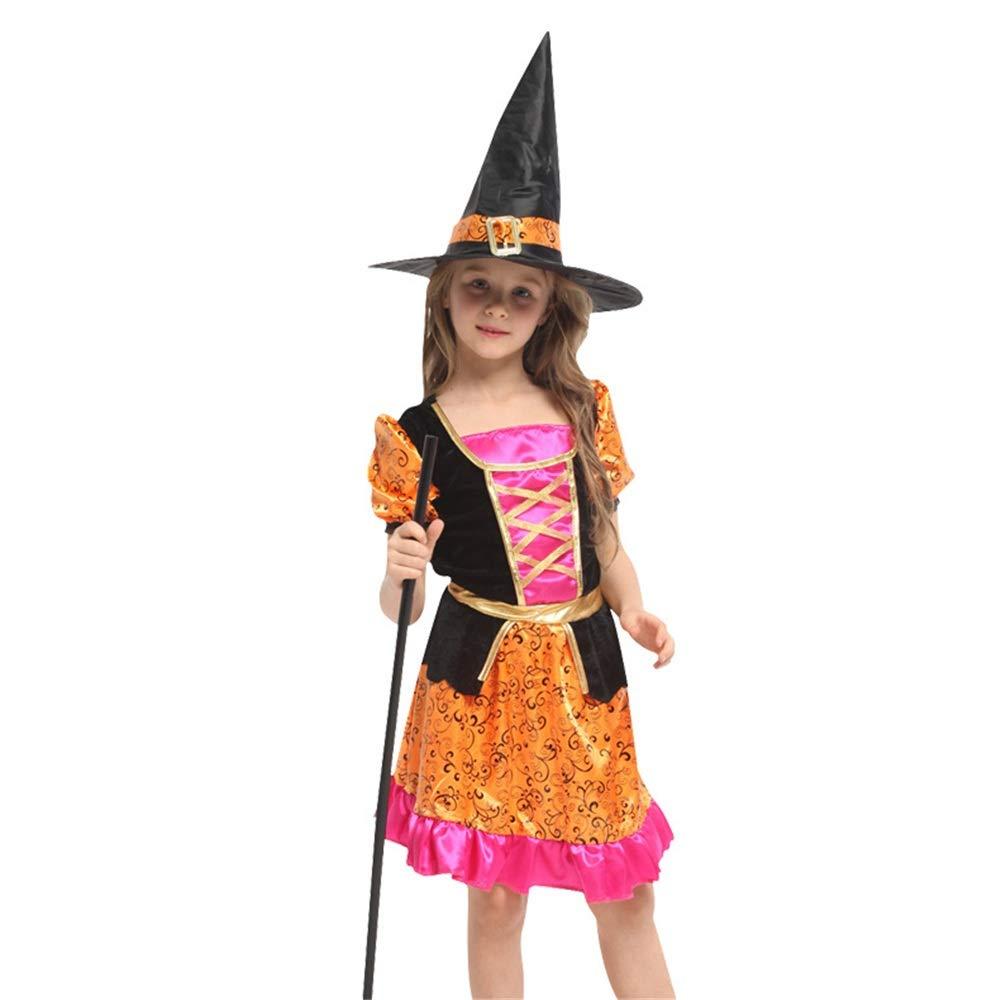 XOXO Precioso Little Girl Vintage Little Witch Masquerade Disfraz de Cosplay (2 Piezas) - Vestido, Headwear (tamaño : Metro): Amazon.es: Hogar