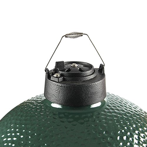 Cheap Dual Function Metal Top Cast Iron Chimney Cap with Daisy Wheel Slide Draft Top Damper Cap Vent Fit for Medium Large Big Green Egg Accessories Charcoal Grill BBQ Kamado Replacement (Cast Iron)