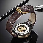 Luxury Automatic Mechanical Men's Leather Belt Fashion Business Bronze Steel Waterproof Skeleton Watches 8