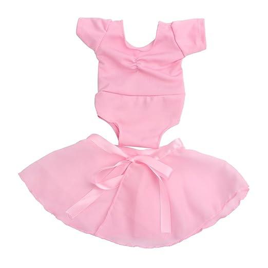 Pink Puppenkleidung Ballettkleid Ballettanzug Bekleidung für 18 Zoll Puppen & Zubehör