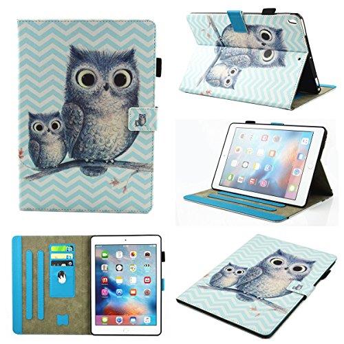 inShang iPad iPad Pro 10.5 Fundas soporte y carcasa para iPad Pro 10.5 inch ((2017 Release) , smart cover PU Funda con Patrón de Diamante + clase alta 2 in 1 inShang marca negocio Stylus pluma Wave and Owl