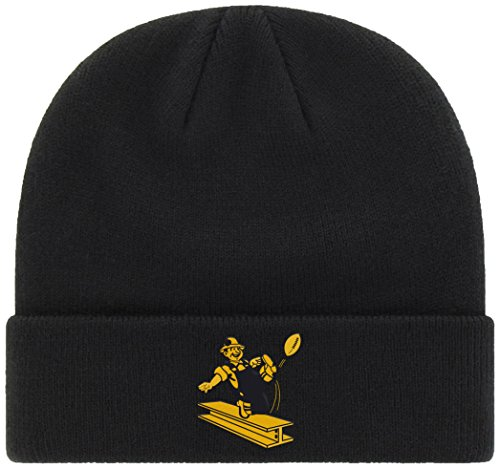 OTS NFL Pittsburgh Steelers Legacy Raised Cuff Knit Cap, One Size, Black