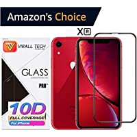 Virall Tech 10D Edge to Edge Tempered Glass Screenguard for iPhone Xr (Clear)