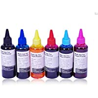 AA+inks Refillable ink Replacement for Epson Printers CISS ink Systems Compatible Refill Bull Ink Continuous Ink System (6x100ml -BK/C/M/Y/LC/LM)