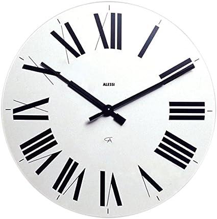 Alessi Firenze - Reloj de pared, diseño con números romanos, color azul