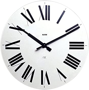 Alessi Firenze - Reloj de pared, diseño con números romanos, color azul: Pier Giacomo Castiglioni: Amazon.es: Hogar