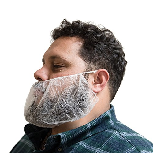 AMMEX - BR1 - Beard Cover - Disposable, Non-woven polypropylene, Unisize, White (Case of 1000) by Ammex (Image #2)
