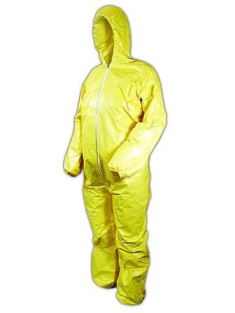 DuPont Tyvek Tychem QC127S Chemical Hazmat Coverall Hood Suit W// Elastic 12 PACK
