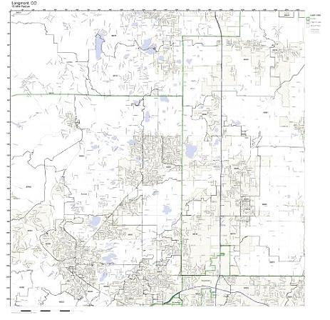 Amazoncom Longmont CO ZIP Code Map Not Laminated Home Kitchen - Colorado zip code map