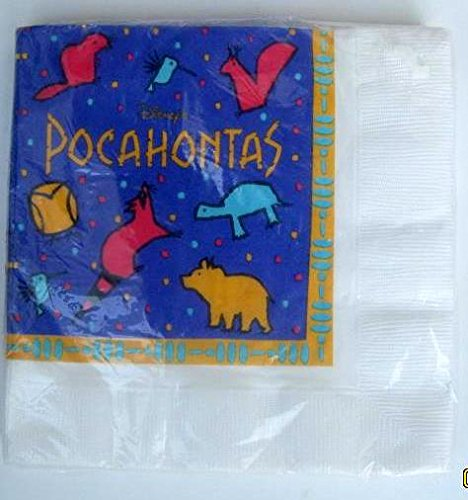 Pocahontas Princess Party NAPKINS Lunch Birthday Decoration Supplies x16 India Meeko by Hallmark
