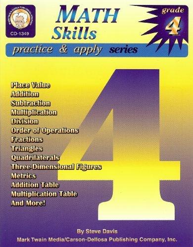 Read Online Math Skills Practice and Apply: Grade 4 by Davis Steve (2000-07-01) Paperback PDF