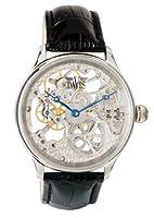 Davis 0890 - Herren Skeleton Uhr Mechanisch Skelett mit sichtbarem Uhrwerk...