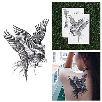 Tatuaje Temporal Tattify - Mascara de Pájaro - Cerebro de Pluma ...