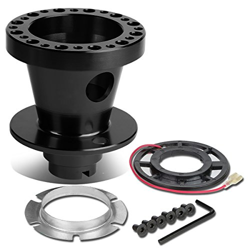 eel 6-Hole Hub Adaptor Kit (Black) - Civic / Integra / Del Sol (Aluminum Racing Steering Set)