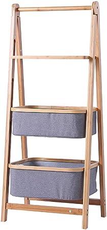 Zxj Estantería de Escalera de 3 Niveles Estantes de Almacenamiento de Ropa de bambú Ideal for Pasillo, baño, Sala de Estar (Size : 45 * 108cm): Amazon.es: Hogar