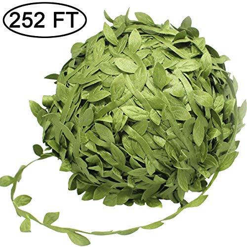 TIHOOD 252 Ft Artificial Vines, Artificial Eucalyptus Leaf Garland DIY Greek Wild Jungle Decorative Botanical Greenery for Home Wall Garden Wedding Party Wreaths -