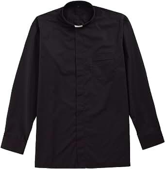 BLESSUME Negro Clerical Camisa con lengüeta de Cuello (37): Amazon.es: Ropa y accesorios