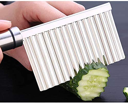 Crinkle-Cutter-Wavy-Chopper-Cut-Knife-Knife-Vegetable-Slicer-Kitchen-Gadget-Cooking-Tool-Accessories-Cutting-Peeler-Stainless-Steel-Wavy-Edged
