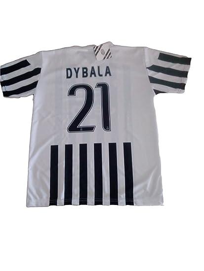 PERSEO Trade SRL - Réplica Oficial de la Camiseta de fútbol de la Juventus, del Jugador número 21 Dybala, Disponible en Todas Las Tallas (2015-2016)
