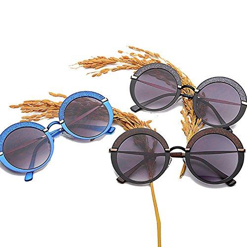 GSHGA MAIDIS New Personality Flash Fashion Round Occhiali da sole Donna Occhiali da sole Color Box gOn2Z1HNcK