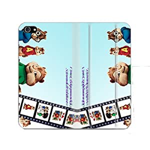 Bondever Alvin and the Chipmunks PU Leather Casing for iPhone 5