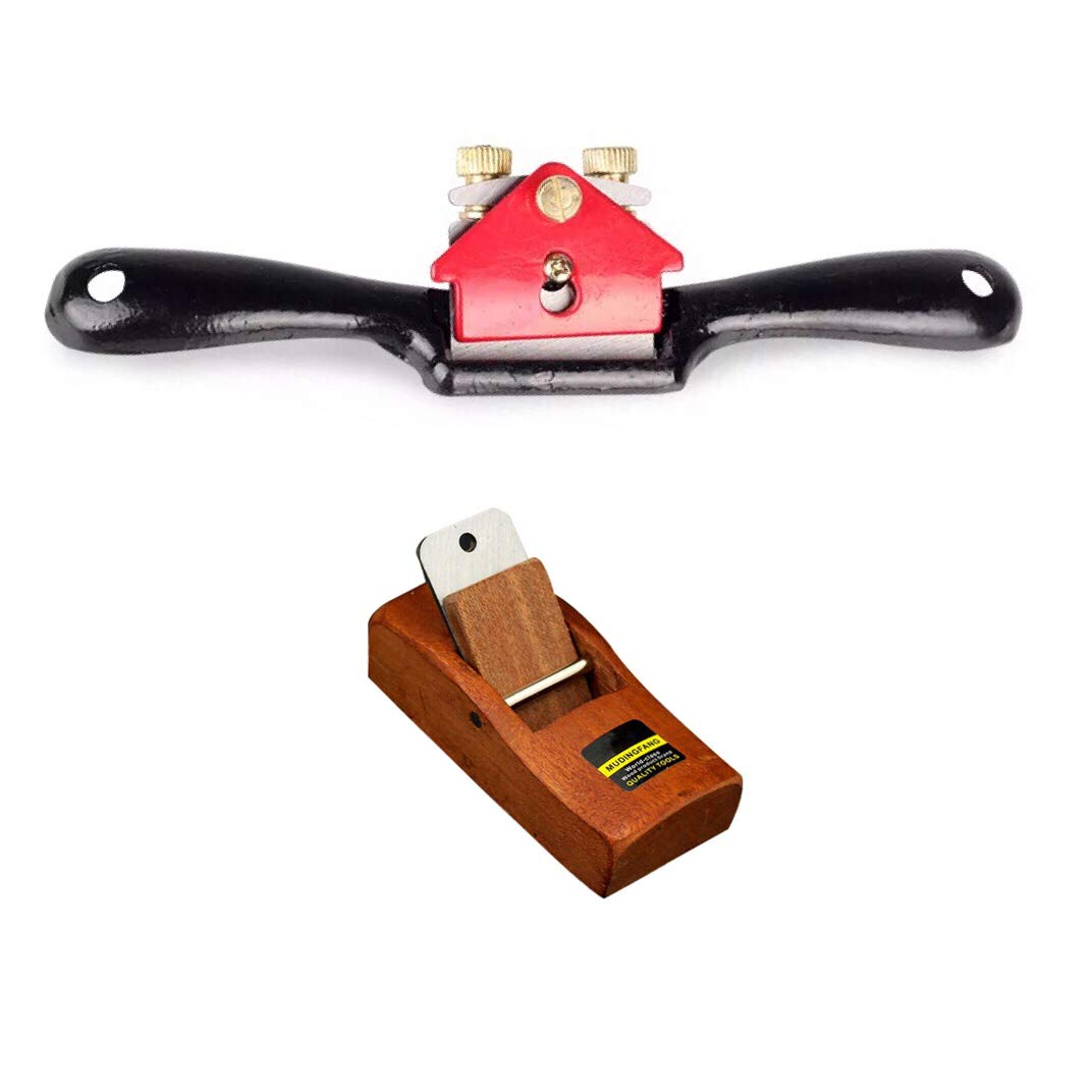 Adjustable SpokeShave with Flat Base and Metal Blade for Wood Craft, portable woodworking planes,Premium Hand Tool for Wood Craver, perfect Handly tool for Wood Working(1pc metal and 1pc wood)