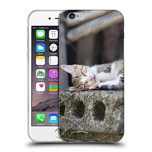 "Just Phone Cases Coque de Protection TPU Silicone Case pour // V00004212 chaton mignon dormant sur dalle // Apple iPhone 6 4.7"""