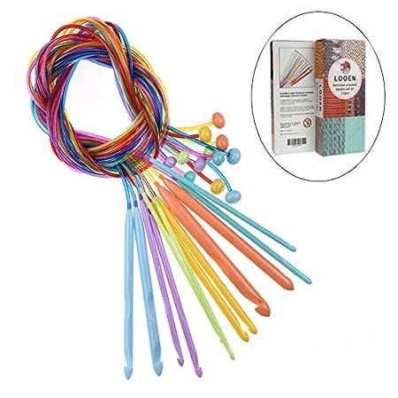 12pcs//Set Plastic Afghan Tunisian Flexible Crochet Hooks Needle Carpet Hooks