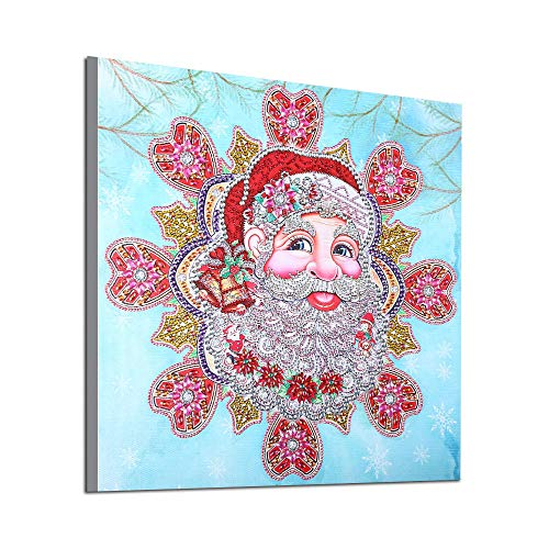 QHB Diamond Painting 5D Rhinestone Pasted Embroidery Special Shaped Christmas Painting Cross Stitch Home Decor 19x19Inch