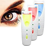Random color DZT1968 1pc Electric Automatic Long Lasting Heated Eyelash Eye Lashes Curler Without battery
