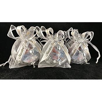 101236d37 (12) Organza Favor Bags. Elegantes Recuerdos de Nuestra Boda. Rosarios para  Boda
