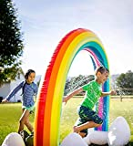 NaNa Chic Jewelry Forstart Summer Sprinkler Toy Inflatable Rainbow Inflatable Rainbow Arch Lawn Beach Outdoor Toy Oversize 6 Feet Rainbow Color